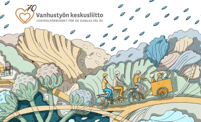 """Vanhustyön keskusliitolta toimintatonni Senja-korttelin vapaaehtoisten """"Työrukkasen"""" toiminnan kehittämiseen"""
